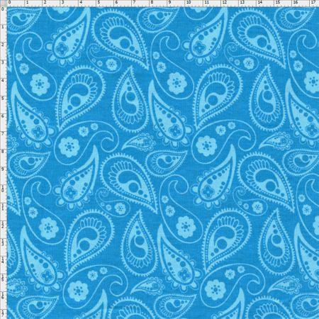 Tecido Estampado para Patchwork - Luminous By Carol Viana: Blue Shadow (0,50x1,40)
