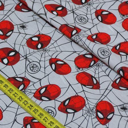 Tecido Estampado para Patchwork - Marvel: Homem Aranha Teia (0,50x1,50)