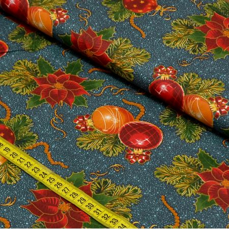 Tecido Estampado para Patchwork - Natal Elegante Cor 2200 (0,50x1,40)