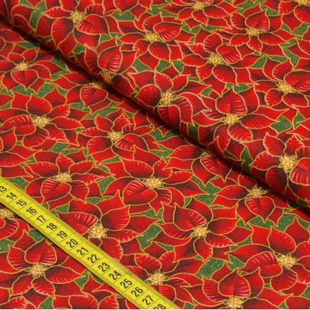 Tecido Estampado para Patchwork - Natal Elegante Cor 2201 (0,50x1,40)