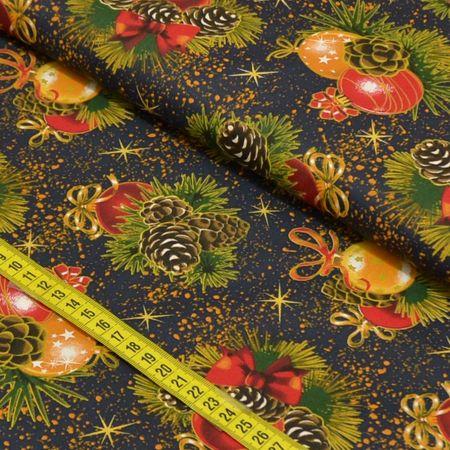 Tecido Estampado para Patchwork - Natal Elegante Cor 2199 (0,50x1,40)