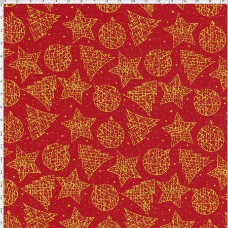 Tecido Estampado para Patchwork - Natal Enfeites de Natal 3 Cor 01 (0,50x1,40)