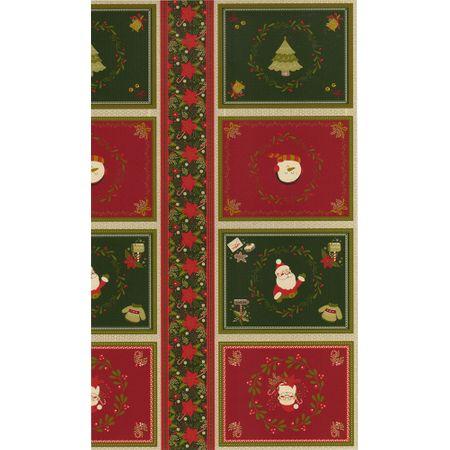Tecido Estampado para Patchwork - Natal Jogo Americano Cor 01 (0,60x1,40)
