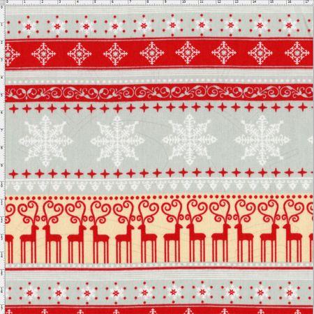 Tecido Estampado para Patchwork - Natal Merry Christmas Cor 1834 (0,50x1,40)