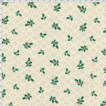 Tecido Estampado para Patchwork - Natal Mini Azevinho (0,50x1,40)