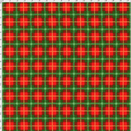 Tecido Estampado para Patchwork - Natal Xadrez Cor 1840 (0,50x1,40)
