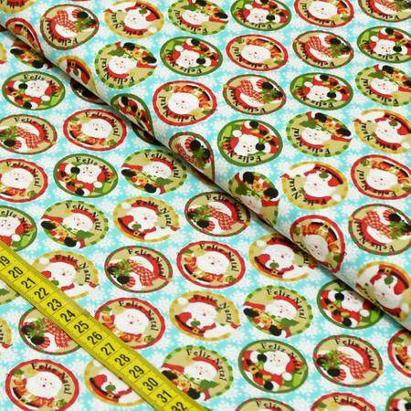 Tecido Estampado para Patchwork - Noel Cor 2193 (0,50x1,40)