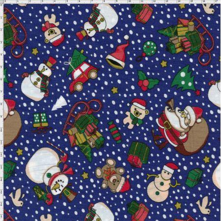 Tecido Estampado para Patchwork - Noite de Natal Cor 2045 (0,50x1,40)