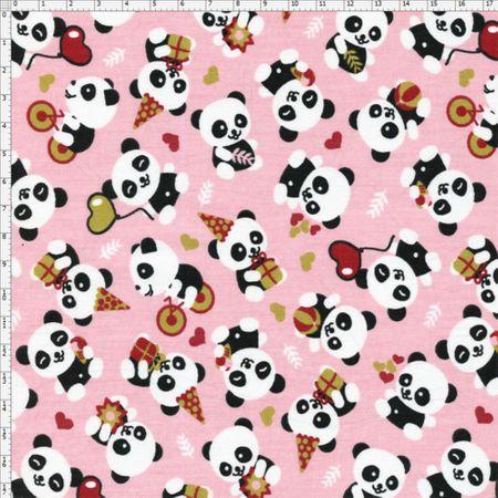 Tecido Estampado para Patchwork - Pandas Baby Cor 2078 (0,50x1,40)