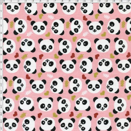 Tecido Estampado para Patchwork - Pandas Baby Cor 2080 (0,50x1,40)