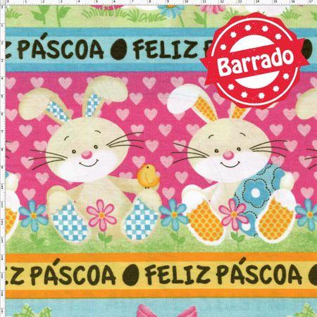 Tecido Estampado para Patchwork - Páscoa Barrado Páscoa Candy Cor 2164 (0,50x1,40)