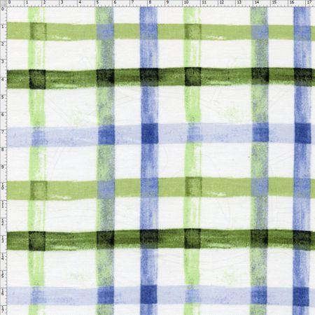 Tecido Estampado para Patchwork - Páscoa Xadrez Aquarela Cor 2 (0,50x1,40)