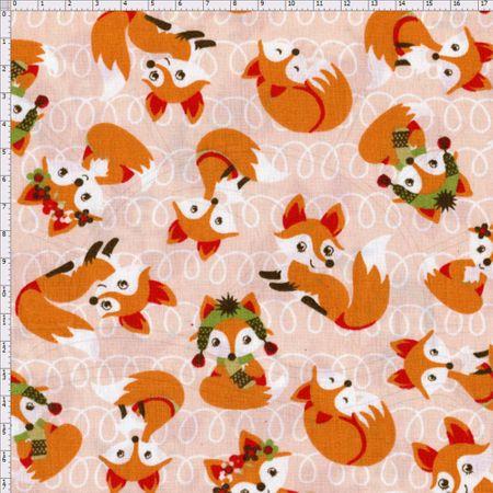 Tecido Estampado para Patchwork - Raposas Cor 1990 (0,50x1,40)