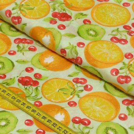 Tecido Estampado para Patchwork - Salada de Frutas Cor 2183