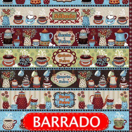 Tecido Estampado para Patchwork - Semaninha Café House Cor 2153 (0,60x1,50)