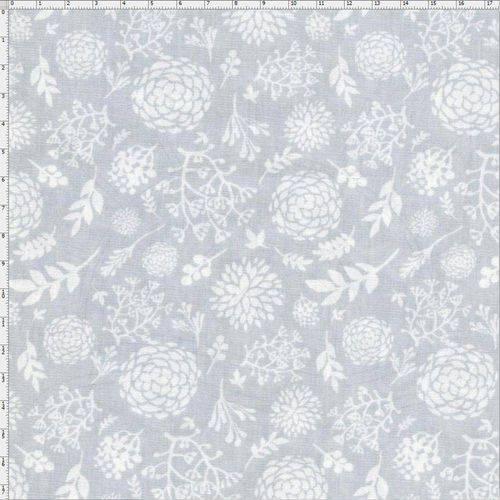 Tecido Estampado para Patchwork - Tons de Cinza 30652 Hortência 01 (0,50x1,40)