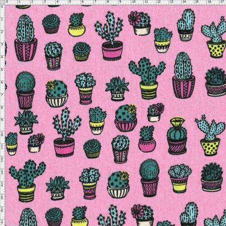 Tecido Estampado para Patchwork - Viva México Cactos Cor 01 (0,50x1,40)