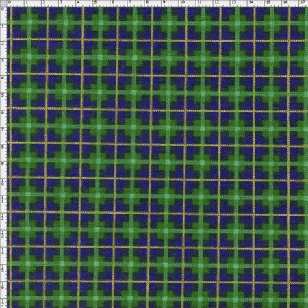 Tecido Estampado para Patchwork - Xadrez Natal Cor 2064 (0,50x1,40)