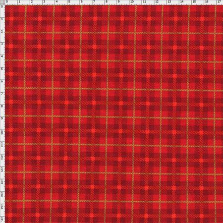 Tecido Estampado para Patchwork - Xadrez Natal Cor 2065 (0,50x1,40)