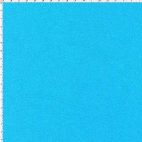 Tecido Liso para Patchwork - Azul Brilhante Cor LISO5198 (0,50x1,40)