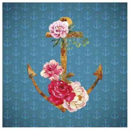 Tecido Quadrado Digital 49 X 49cm - Âncora Floral