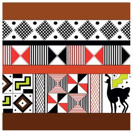 Tecido Quadrado Digital 49 X 49cm - Étnica - 8114