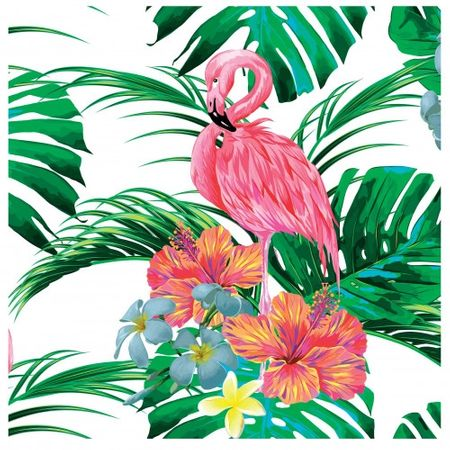 Tecido Quadrado Digital 49 X 49cm - Flamingo - 8128