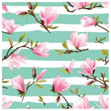 Tecido Quadrado Digital 49 X 49cm - Floral - 8124