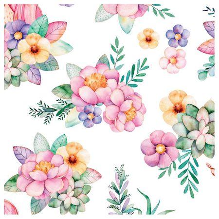 Tecido Quadrado Digital 49 X 49cm - Floral - 8139