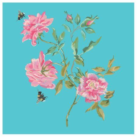 Tecido Quadrado Digital 49 X 49cm - Floral - 8123