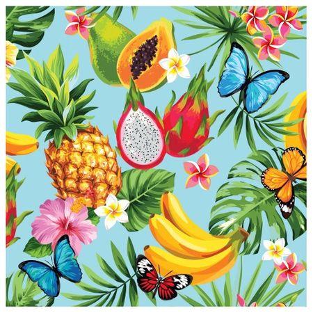 Tecido Quadrado Digital 49 X 49cm - Frutas - 8129