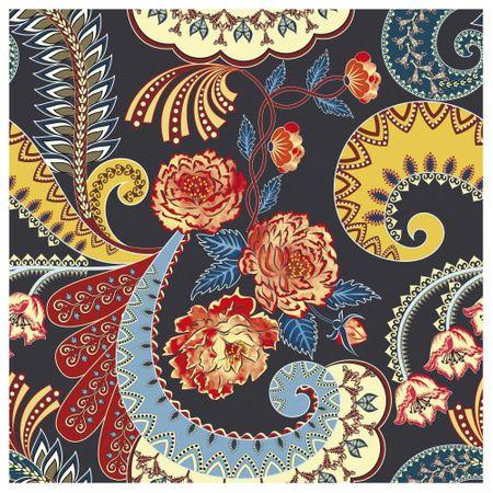 Tecido Quadrado Digital 49 X 49cm - Indiano Colorido