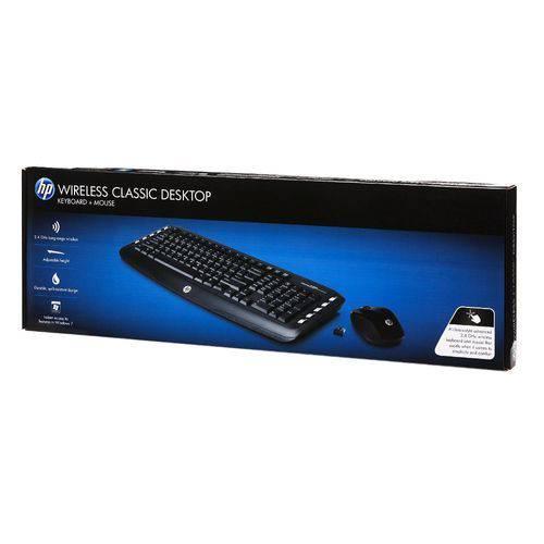 Teclado e Mouse - Sem Fio - HP LV290AA - Preto