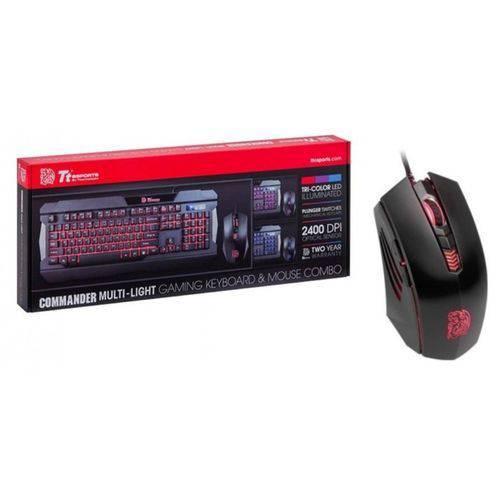 Teclado e Mouse - USB - Thermaltake Tt Sports Commander Combo Multi-Light - Preto - KB-CCM-PLBLPB-01