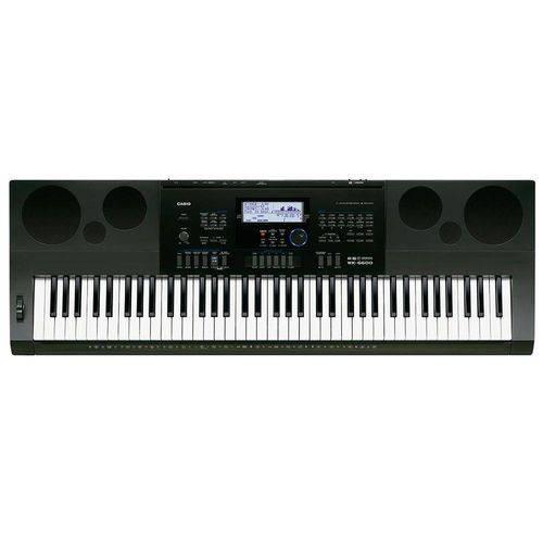 Teclado Eletrônico Wk-6600, 76 Teclas Estilo Piano, Equalizador - Casio Preto Preto Preto