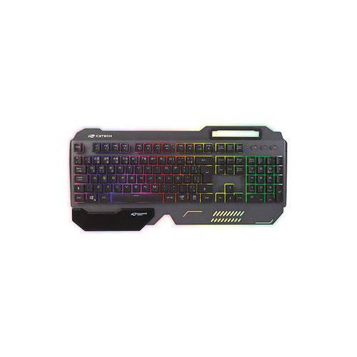 Teclado Gamer Iluminado Preto USB C3tech (kg-200bk)