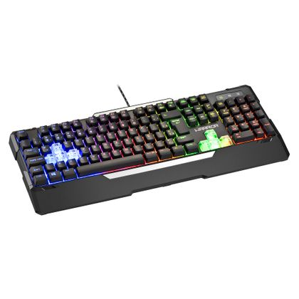 Teclado Gamer Semi Mecânico Preto USB Warrior - TC208 TC208