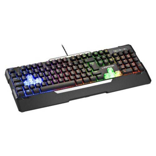 Teclado Gamer Semi Mecânico Preto USB Warrior - Tc208