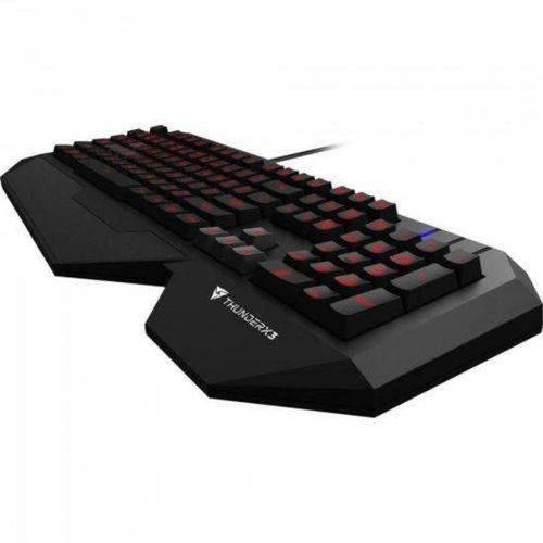Teclado Gamer Usb Tk30 Preto Profissional com Led Rgb Thunderx3