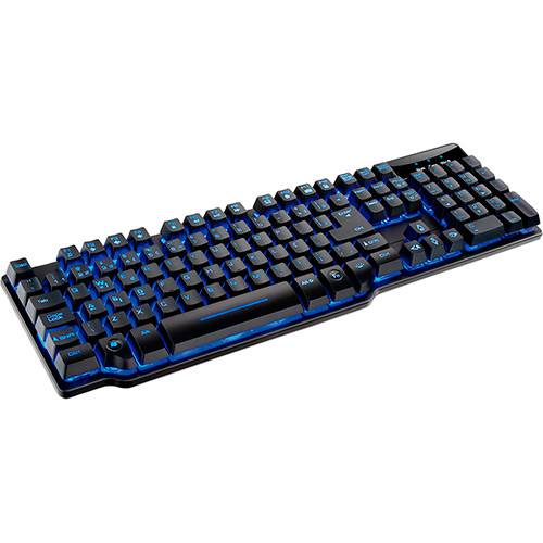 Teclado Gamer Warrior Multilaser TC196 Semi Mecânico com Teclas Anti Ghost
