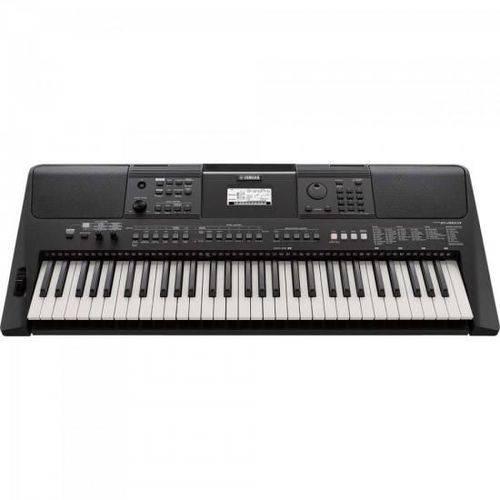 Teclado Musical 61teclas C/ Fonte Psr E463 Preto Yamaha
