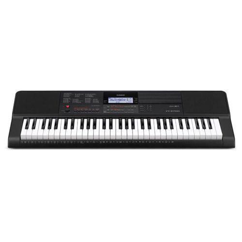 Teclado Musical Casio CT-X700 Bivolt Preto com 61 Teclas e Porta Partitura