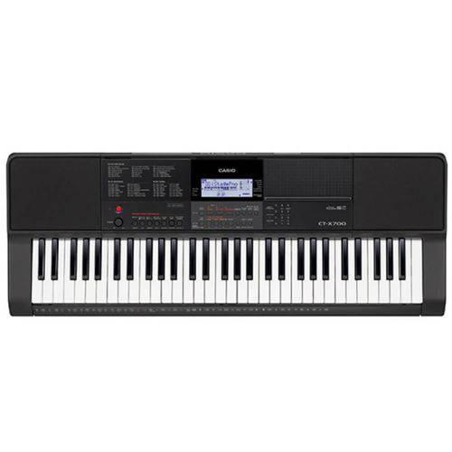 Teclado Musical Casio CT-X700 Bivolt Preto com 61 Teclas Sensitivas e Porta Partitura