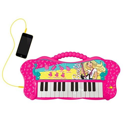 Teclado Musical Fabuloso Barbie com Função MP3 Fun Rosa