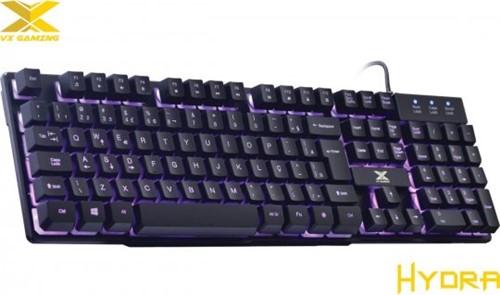 Teclado Vx Gaming Hydra 107 Teclas + 12 Multimídia C Backlight