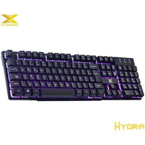 Teclado Vx Gaming Hydra com Blacklight em 3 Cores 107 Teclas + 12 Multimídias - Vinik