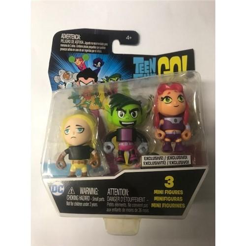 Teen Titans Go! - Mini Figuras com 3 - Dxn86 - MATTEL