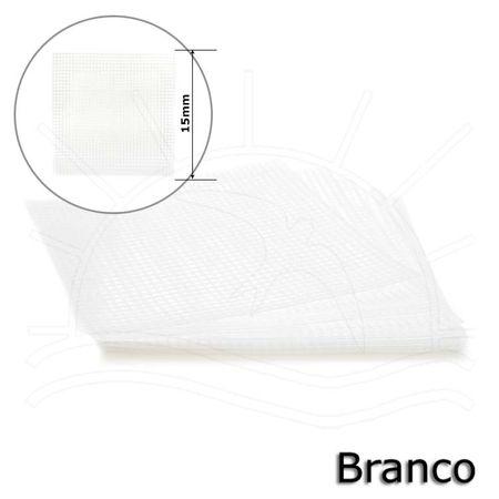 Tela Plástica Fina para Bolsa 15 X 15 Cm - 10 Unid. 01 - Branco