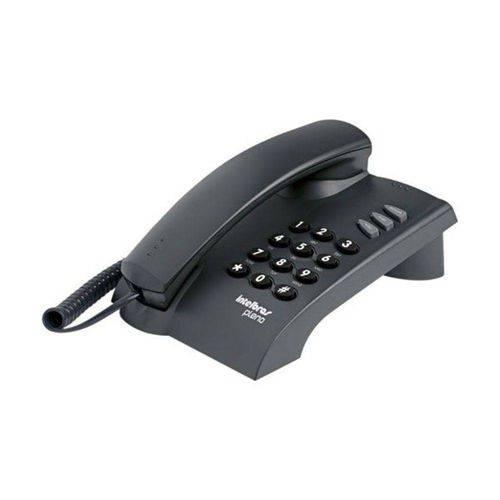 Telefone C/fio Pleno S/chave Preto Grafite Intelbras