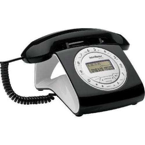 Telefone C/ Fio TC8312 Vivavoz Ajuste Vol. Ident.cham Preta